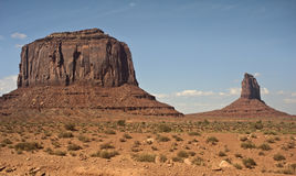 Monument Valley. This is a picture of Merrick Butte and East Mitten rock formations in Monument Valley Stock Images