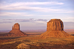 Monument Valley. East Mitten and Merrick Butte royalty free stock photos