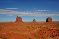 Monument Valley. The Mittens in Monument Valley Royalty Free Stock Images