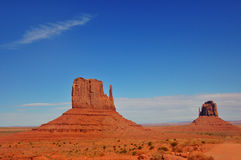 Monument Valley. The Mittens in Monument Valley Royalty Free Stock Image