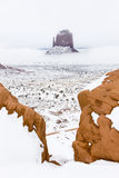 Monument Valley. The Mitten, Monument Valley National Park in winter, Utah, Arizona, USA Stock Photography