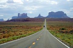 Monument Valley. Truckin' Through Monument Valley, Arizona Stock Photography