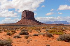 Monument Valley in Arizona on a sunny day royalty free stock photo