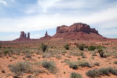 Monument Valley. Sweeping landscape of monument Valley royalty free stock photo