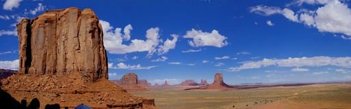 Monument Valley. Landscape Panorama of Monument Valley in Arizona, USA Stock Photo