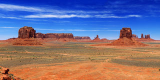 Monument Valley. Panorama of the Monument Valley (Navajo Tribal park stock photo