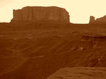 Monument Valley 2. Monument Valley, Arizona (sepia filter used stock photography