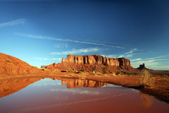Monument Valley. Reflections in Monument Valley Navajo Tribal Park, Arizona Stock Image