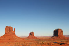 Monument Valley. Beautiful Red Navajo Sanstone Buttes of Monument Valley royalty free stock image