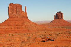 Monument Valley. Beautiful Red Navajo Sanstone Buttes of Monument Valley royalty free stock photos
