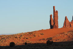 Monument Valley. Beautiful Red Navajo Sanstone Buttes of Monument Valley stock images