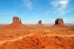 Monument Valley. View of the rock formations in Monument Valley, Arizona and Utah, USA Stock Photos