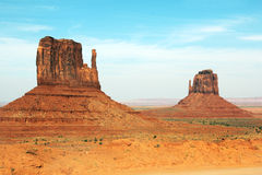 Monument Valley. The Mittens at Monument Valley Royalty Free Stock Photo