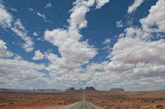 Monument Valley. The classic view of the road to Monument Valley, USA Royalty Free Stock Photography