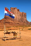 Monument Valley. Flag in the Monument Valley, USA stock images