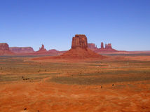 Monument Valley 3. Landscape of the rock formations at Monument Valley Tribal Park in Utah and Arizona Stock Photo