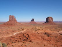 Monument Valley. Made famous by the western movies Stock Photos