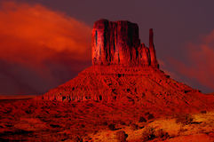 Monument Valley. Striking Image of Monument valley at sunset Royalty Free Stock Images