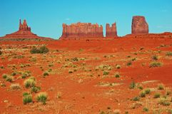 Monument Valley. View of Monument Valley with vibrant red and blue contrast Royalty Free Stock Photos