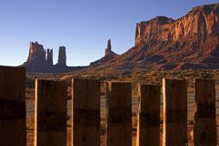 Monument Valley 6. Beautiful Image behind Trading Post stock photo