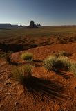 Monument valley. The view on monument valley in middle day Royalty Free Stock Photo