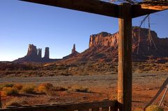 Monument Valley 8. Classic Image From Trading Post royalty free stock photos