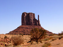 Monument Valley 8. One of the 'mittens' (rock formations) for which Monument Valley Tribal Park is famous Stock Photo