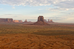 Monument Valley aerial sky view Stock Photography