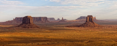 Monument Valley aerial sky view Royalty Free Stock Photography