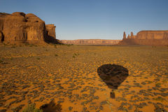 Monument Valley aerial view Royalty Free Stock Image