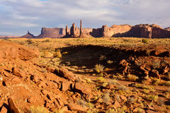 Monument Valley in Afternoon Light. Late afternoon in the Monument Valley Tribal Park desert Royalty Free Stock Photography