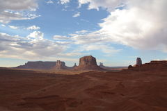 Monument Valley - amazing place in the world Stock Photography