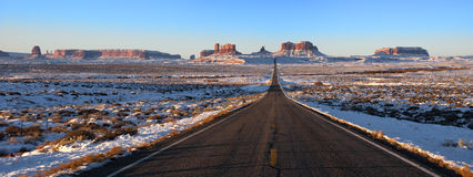 Monument Valley Approach Panorama, Panoramic Stock Image