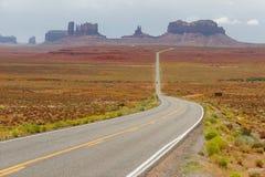 Monument Valley, Arizona. Empty road in Monument Valley, Arizona, USA Royalty Free Stock Photo
