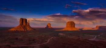 Monument Valley Arizona colorful sunset sky Stock Image