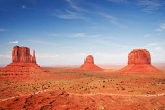 Monument Valley, Arizona - Forrest Gump Hill Royalty Free Stock Photos