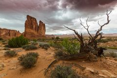 Monument Valley, Arizona, perspective scenery in autumn Stock Image