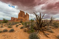 Monument Valley, Arizona, perspective scenery in autumn Royalty Free Stock Photo