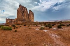Monument Valley, Arizona, perspective scenery in autumn Stock Photography