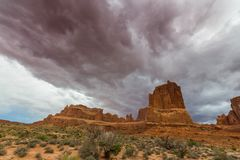 Monument Valley, Arizona, perspective scenery in autumn Stock Images