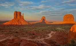Monument Valley, Arizona State, United States. September 9, 2015: Sunset in the Monument Valley landscape Stock Photo