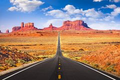 Monument Valley, Arizona, USA. Iconic roadway royalty free stock photo
