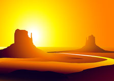 Monument Valley ( Arizona)-Vector. Monument Valley ( Arizona) is a  illustration Stock Image