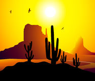 Monument Valley Arizona Vector. Monument Valley ( Arizona) is a  illustration Royalty Free Stock Image