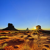Monument Valley At Sunrise, USA Stock Image