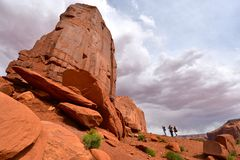 Monument Valley in AZ,USA Royalty Free Stock Photography