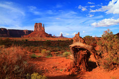Monument Valley. Beautiful cloudy in the Monument Valley Royalty Free Stock Photo