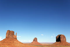 Monument Valley with big blue sky Royalty Free Stock Image