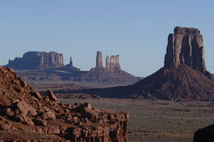 Monument Valley Buttes. Monument Valley AZ/UT Stock Photography