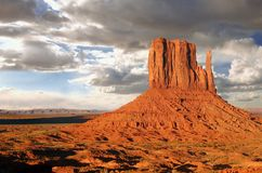 Monument Valley Buttes With Clouds Stock Image